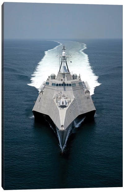 The Littoral Combat Ship Independence Underway During Builder's Trials In The Gulf Of Mexico Canvas Art Print