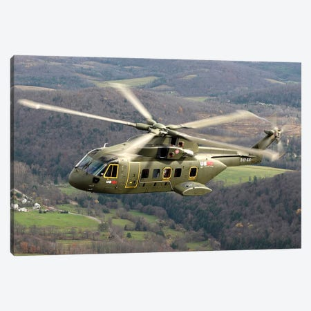 The Next Generation Presidential Helicopter, The US-101 Medium Lift Helicopter Canvas Print #TRK967} by Stocktrek Images Art Print
