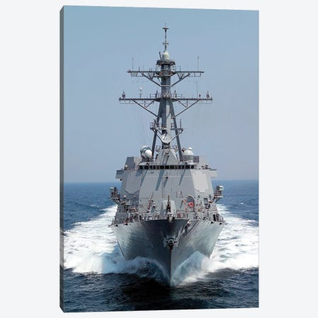 The Pre-Commissioning Unit Guided Missile Destroyer USS Forrest Sherman Canvas Print #TRK969} by Stocktrek Images Canvas Artwork