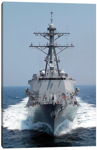 The Pre-Commissioning Unit Guided Missile Destroyer USS Forrest Sherman Canvas Art Print