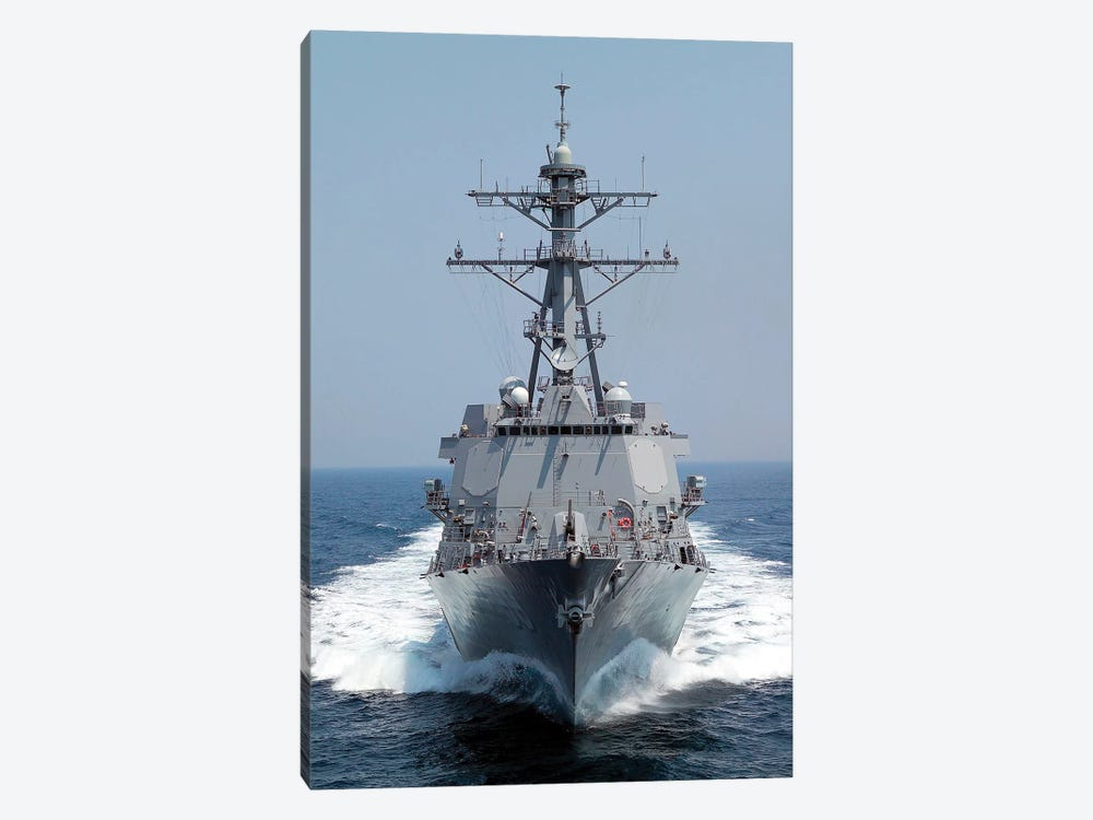 The Pre-Commissioning Unit Guided Missile Destroyer USS Forrest Sherman by Stocktrek Images 1-piece Canvas Artwork