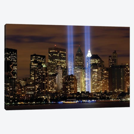 The Tribute In Light Memorial, NYC I Canvas Print #TRK975} by Stocktrek Images Canvas Artwork