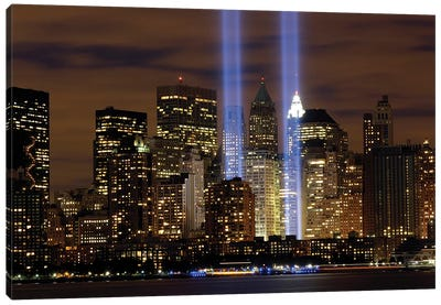 The Tribute In Light Memorial, NYC I Canvas Art Print