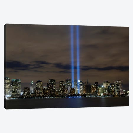 The Tribute In Light Memorial, NYC II Canvas Print #TRK976} by Stocktrek Images Canvas Art