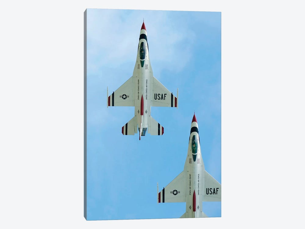 The United States Air Force Demonstration Team Thunderbirds I by Stocktrek Images 1-piece Canvas Print