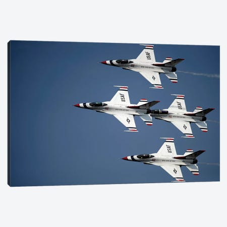 The US Air Force Thunderbird Demonstration Team Canvas Print #TRK979} by Stocktrek Images Canvas Art Print