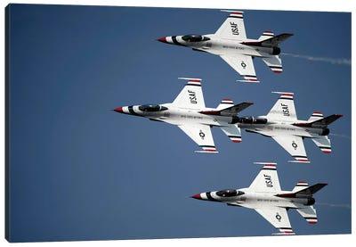 The US Air Force Thunderbird Demonstration Team Canvas Art Print