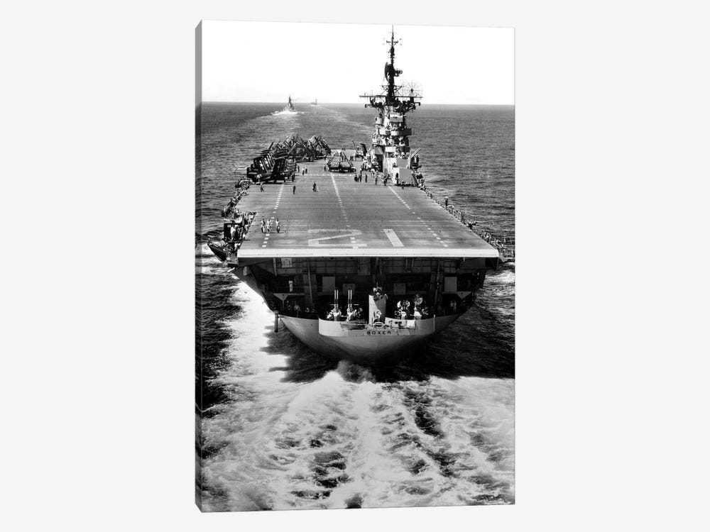 The US Aircraft Carrier USS Boxer Operating Off North Korea by Stocktrek Images 1-piece Canvas Art