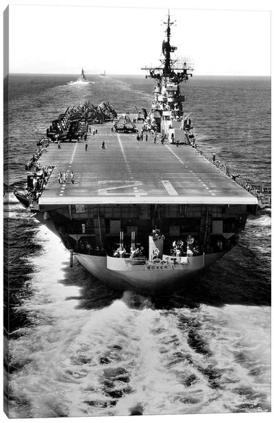 The US Aircraft Carrier USS Boxer Operating Off North Korea Canvas Art Print
