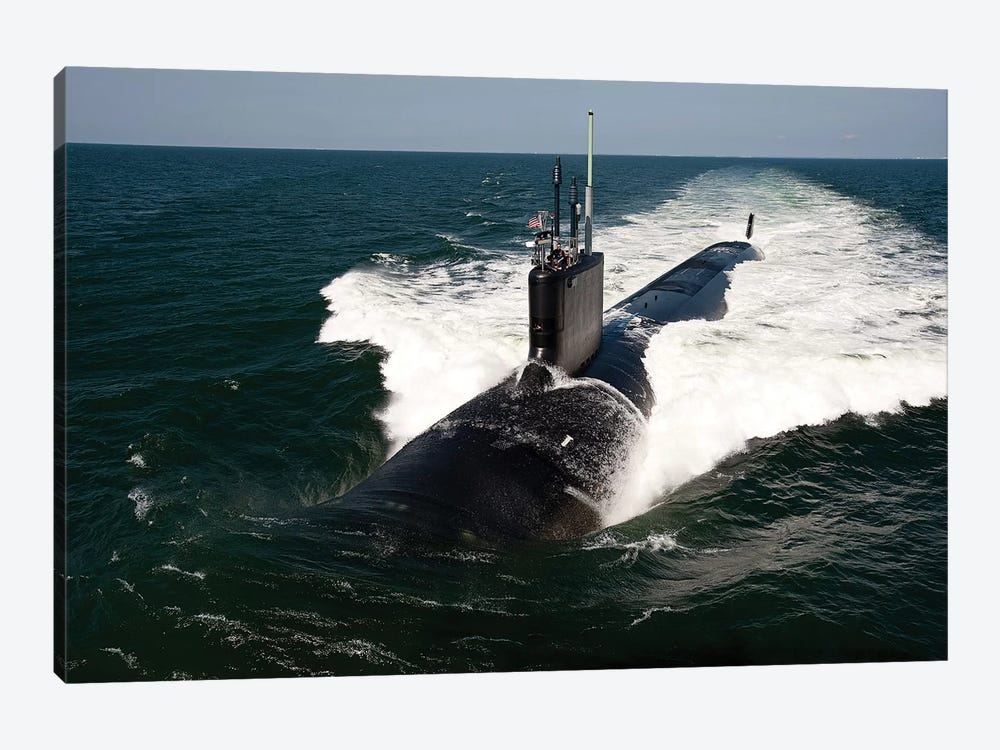 The Virginia-Class Attack Submarine USS California by Stocktrek Images 1-piece Canvas Art Print