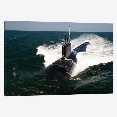 The Virginia-Class Attack Submarine USS California Canvas Print #TRK986} by Stocktrek Images Canvas Art Print