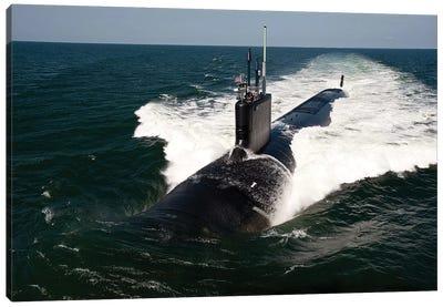The Virginia-Class Attack Submarine USS California Canvas Art Print