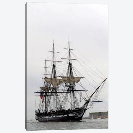 The World's Oldest Commissioned Warship, USS Constitution Canvas Print #TRK988} by Stocktrek Images Canvas Artwork