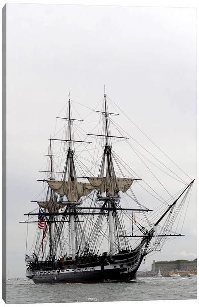 The World's Oldest Commissioned Warship, USS Constitution Canvas Art Print