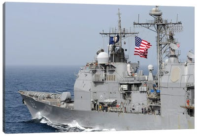Ticonderoga-Class Guided-Missile Cruiser USS Chancellorsville Canvas Art Print