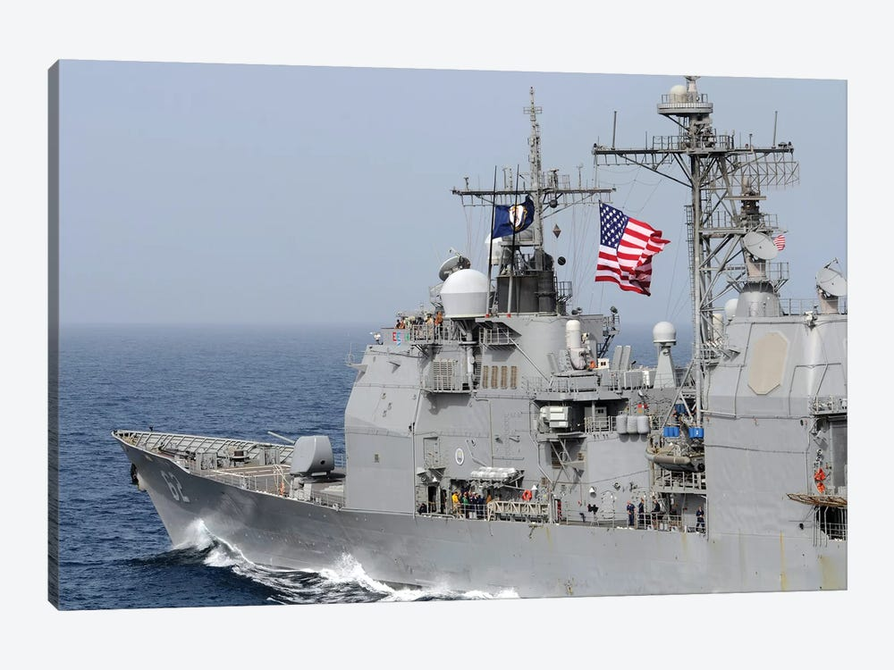 Ticonderoga-Class Guided-Missile Cruiser USS Chancellorsville by Stocktrek Images 1-piece Canvas Wall Art
