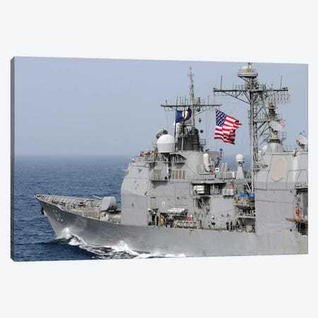 Ticonderoga-Class Guided-Missile Cruiser USS Chancellorsville Canvas Print #TRK989} by Stocktrek Images Canvas Art