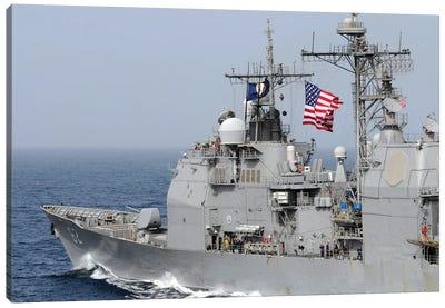 Ticonderoga-Class Guided-Missile Cruiser USS Chancellorsville Canvas Art Print