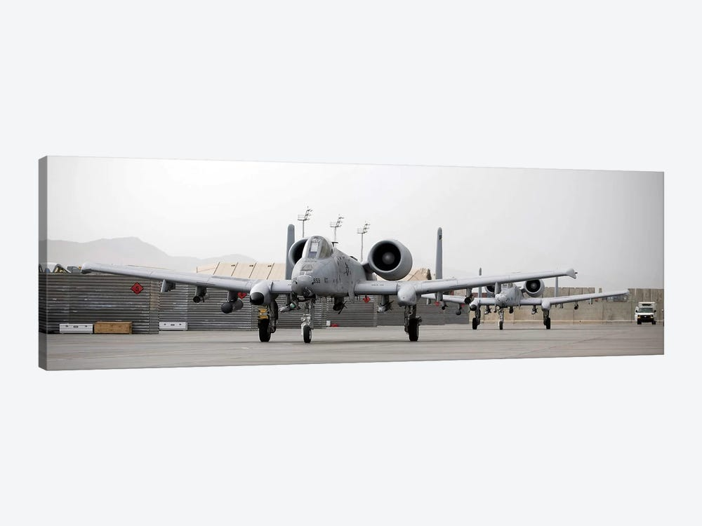 Two A-10 Thunderbolts Taxi Out To The Runway 1-piece Canvas Artwork