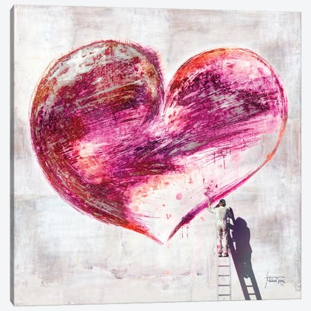 Graffiti Heart Canvas Print #TRN3} by Michael Tarin Canvas Print