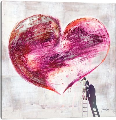 Graffiti Heart Canvas Art Print
