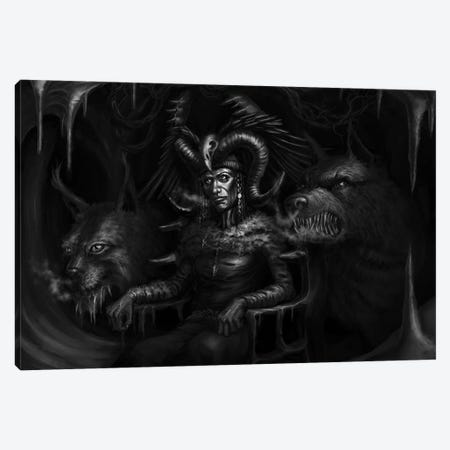 Louhi Grand Witch Of Northland Canvas Print #TRP27} by Tero Porthan Canvas Wall Art