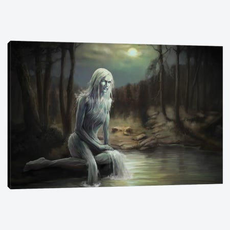 Maiden Of The Pond Canvas Print #TRP35} by Tero Porthan Canvas Art Print