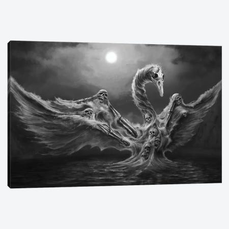 Swan Of Tuonela Canvas Print #TRP44} by Tero Porthan Canvas Wall Art
