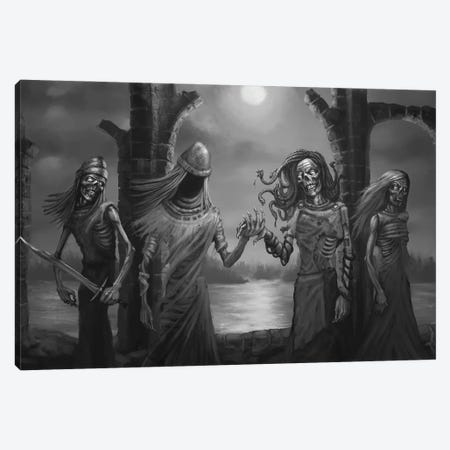 Tuonela Family Of Underworld Canvas Print #TRP45} by Tero Porthan Canvas Wall Art