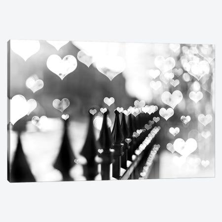 Fence Hearts Canvas Print #TRT11} by Tracey Telik Canvas Art