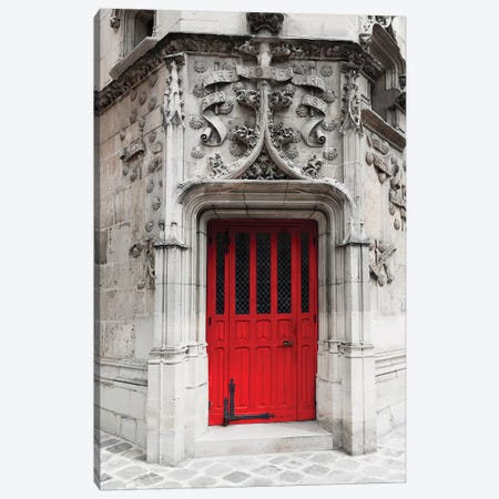 Red Door Canvas Print #TRT16} by Tracey Telik Art Print