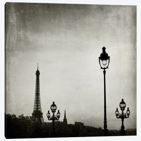 Paris Skyline Canvas Print #TRT1} by Tracey Telik Canvas Artwork