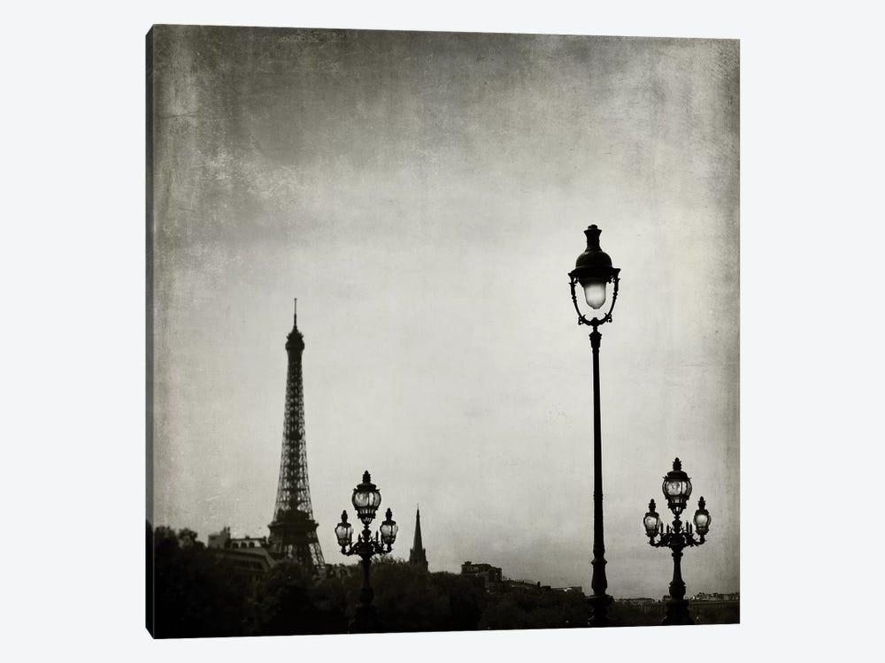 Paris Skyline by Tracey Telik 1-piece Canvas Art