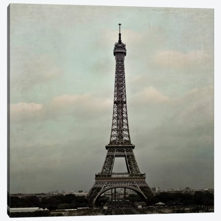Eiffel Paris II Canvas Print #TRT3} by Tracey Telik Canvas Art