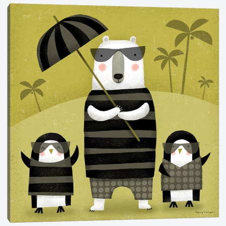 On Holiday 3-Piece Canvas #TRU101} by Terry Runyan Canvas Art