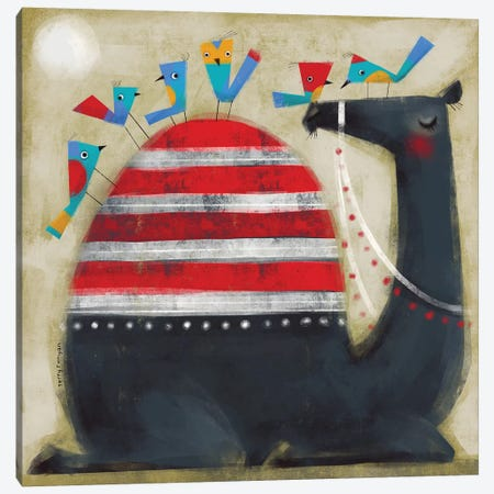 Camel Cap Canvas Print #TRU12} by Terry Runyan Canvas Print