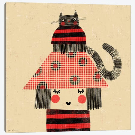 Cat - Hat Canvas Print #TRU14} by Terry Runyan Canvas Art