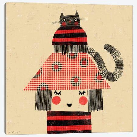Cat - Hat Canvas Print #TRU14} by Terry Runyan Canvas Art