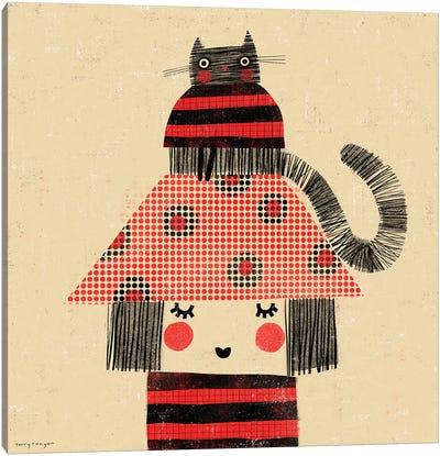 Cat - Hat Canvas Art Print