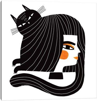 Cat Hair Canvas Art Print