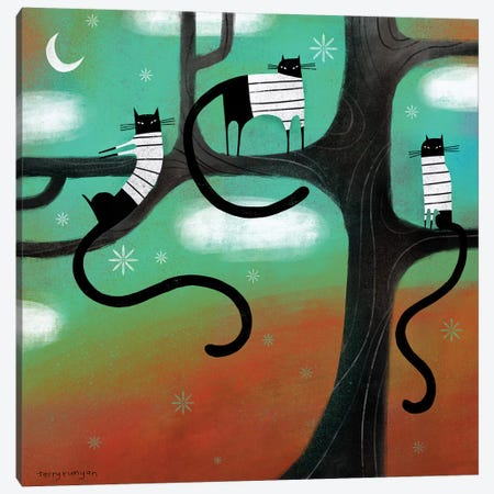 Cat Lounge Canvas Print #TRU17} by Terry Runyan Canvas Artwork