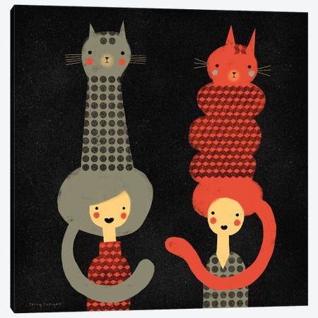 Cat Dos Canvas Print #TRU19} by Terry Runyan Canvas Art Print