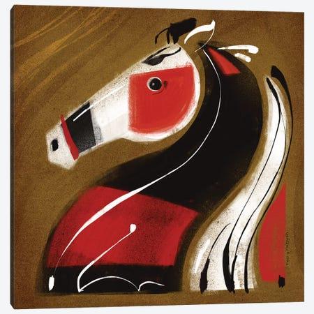 Crazy Horse Canvas Print #TRU26} by Terry Runyan Art Print
