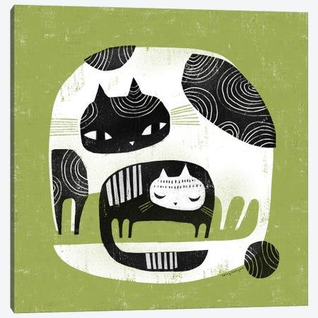 Cuddle Cats Canvas Print #TRU27} by Terry Runyan Canvas Art Print