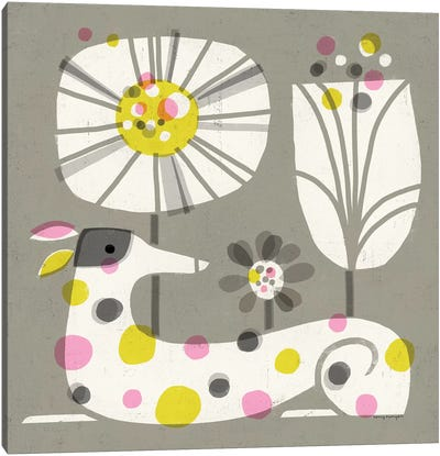 Dog Dots Canvas Art Print