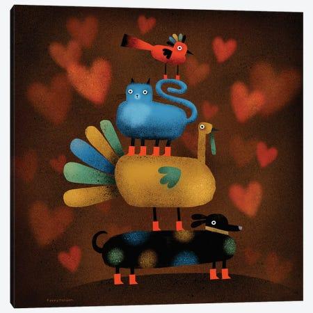 Freindsgiving! Canvas Print #TRU38} by Terry Runyan Art Print