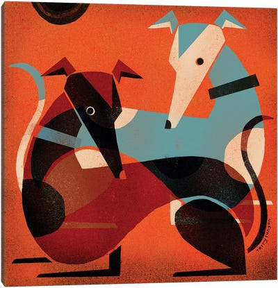 Greyhound Pair Canvas Art Print