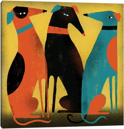 Greyhounds Canvas Art Print