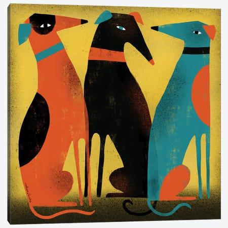 Greyhounds Canvas Print #TRU44} by Terry Runyan Canvas Print