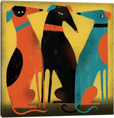 Greyhounds Canvas Art Print